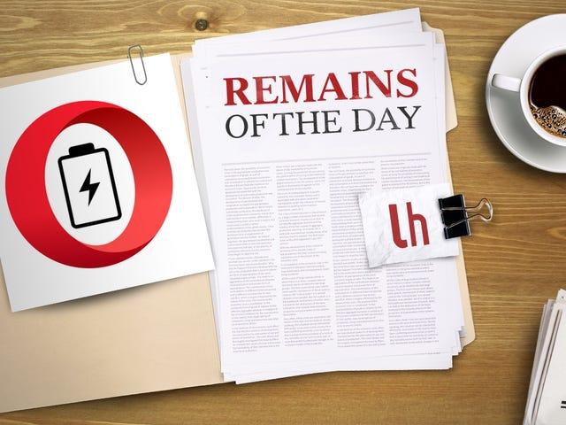 «Остатки дня»: Opera прицеливается на претензии Microsoft в отношении срока службы батарей