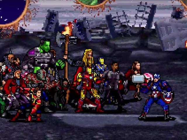 Avengers: Endgame's Final Battle Gets a Glorious 16-Bit Recreation