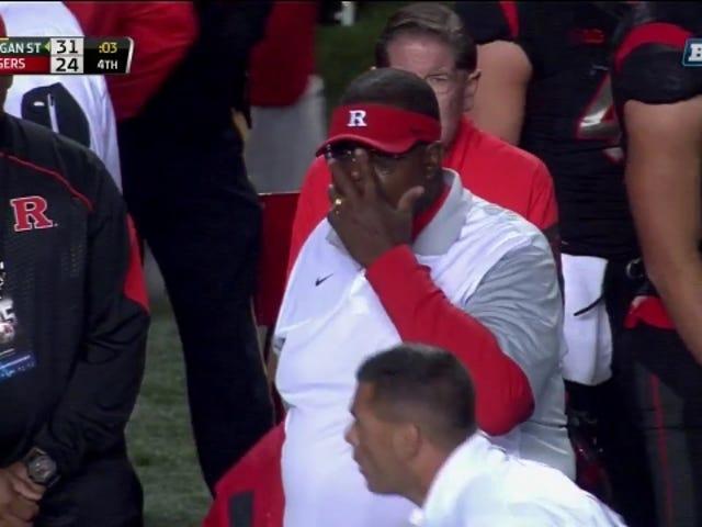 Rutgers mất trí, gai bóng vào thứ tư xuống