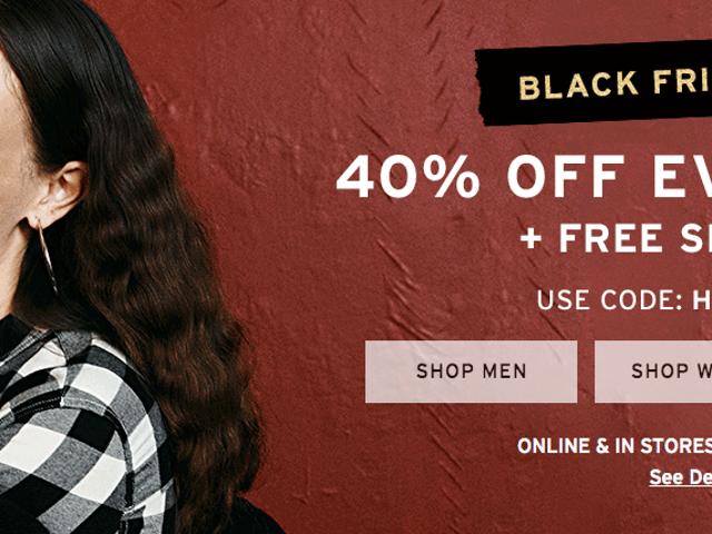 Levi's wil je jeans kopen voor zwarte vrijdag met 40% korting alles