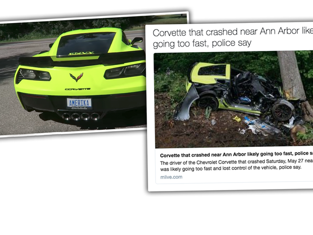 Driver Who Crashed Corvette Z06 Into Tree Sentenced To Nine Months In Jail
