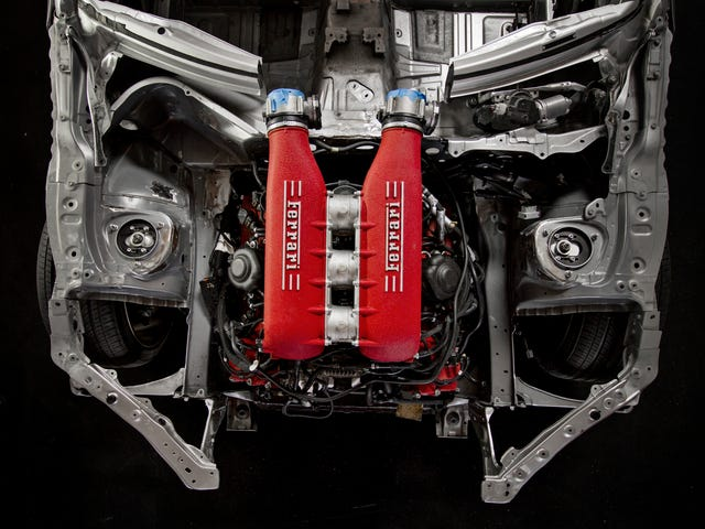 Gaze At The Ferrari Engine Mounted In This Toyota GT86