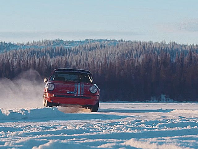 An Ice Driving School For Rally-Prepped Air-Cooled Porsche 911s Is Heaven On Earth