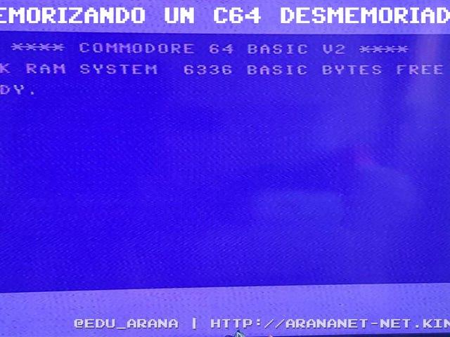 Memorizando un c64 desmemoriado