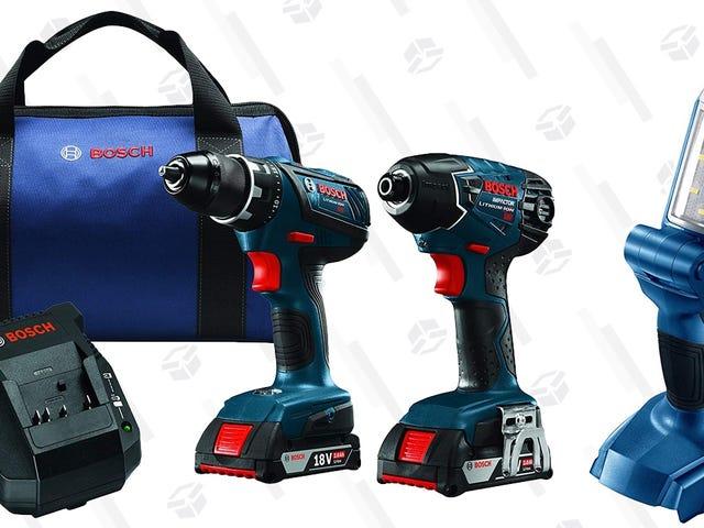Save On An 18V Bosch Tool Kit, Plus a Free Bonus Work Light