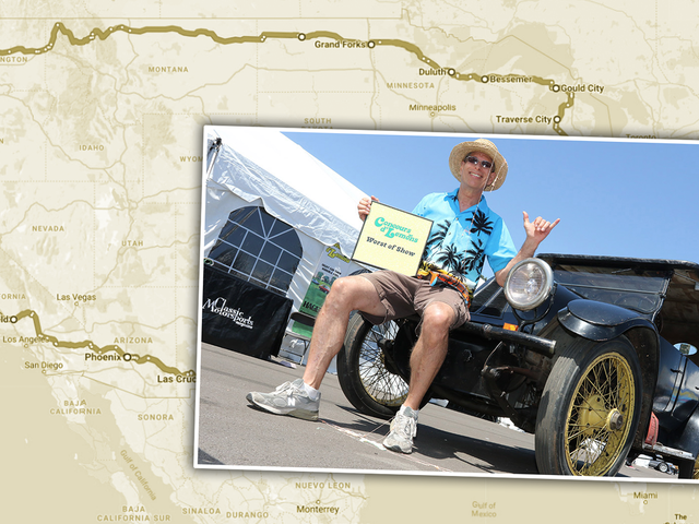 This Wonderful Loon Is Driving A 1919 Air-Cooled Franklin All Around America