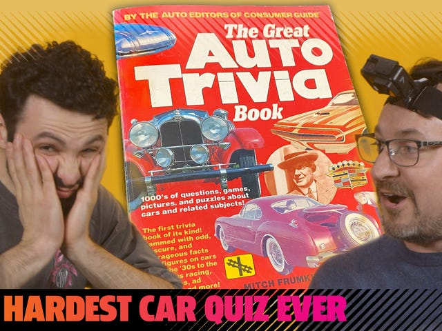 We Tried The Hardest Car Trivia Book We Could Find