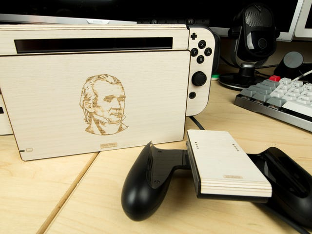 Innpakning Min Nintendo Switch In Wood