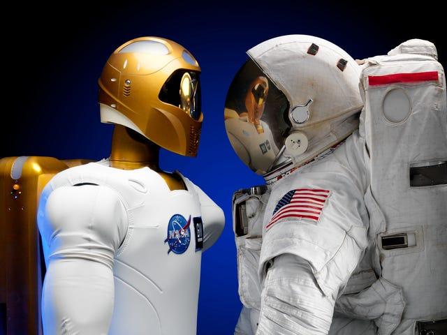 एल रोबोट क्वीन ला नासा के लिए एक अंतरिक्ष यान के लिए अंतरिक्ष यात्री की जगह है