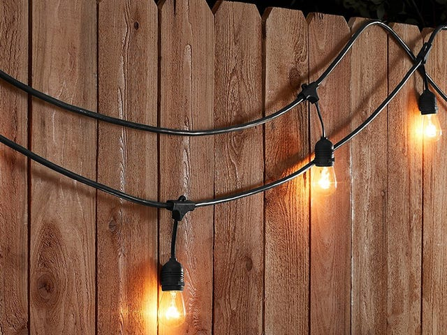 Hang Up 48 Feet of Weatherproof String Lights For $43