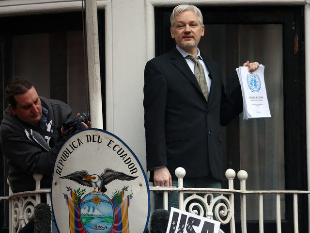 Report: Julian Assange's Thin Ice at the Ecuadorean Embassy in London Could Be About to Break