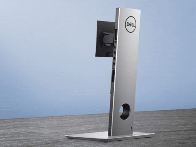 Het nieuwe modulaire bureaublad van Dell is een ingenieuze CPU die is verborgen in de VESA-ondersteuning van de monitor