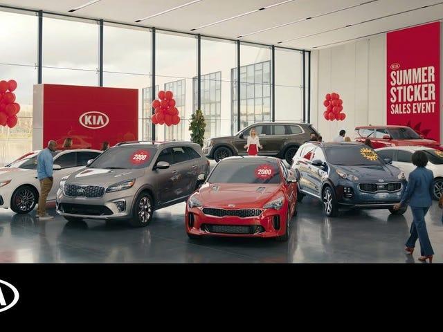 Kia copied Toyota's dealer skirt lady commercials
