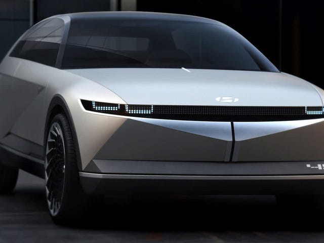 The Hyundai 45 Concept Is A Sleek Retro EV That Proves The Future May Not Be Terrible