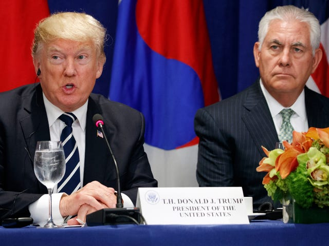 Donald Trump Tweets Rex Tillerson Is 'Wasting His Time' Trying to Avoid Nuclear War