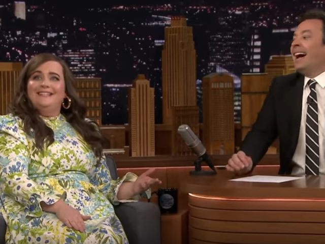 Aidy Bryant tells Jimmy Fallon about taking her Shrill cast to a strip club