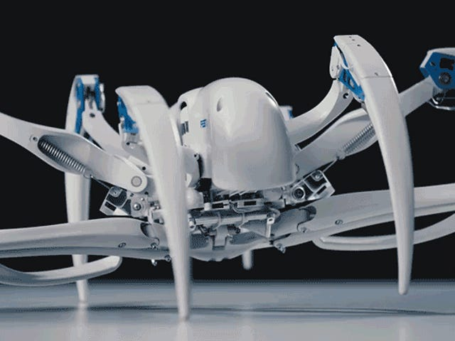 Don't Bother Trying to Outrun This Creepy Spiderbot That Transforms Into a Rolling Wheel