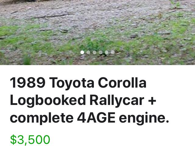 Cheap rally car alert!