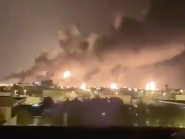 Drone Attack on Oil Facilities Shuts Down Half Of Saudi Arabia's Oil Production