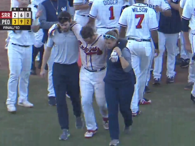 Braves Prospect Appears To Break Foot After Hitting Walk-Off Homer In AFL Championship Game
