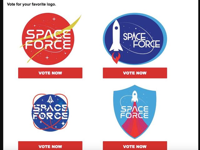 Los fanáticos de Hardcore Trump serán quienes seleccionen el logotipo de la Fuerza Espacial