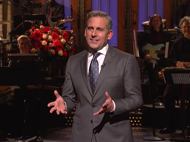 Steve Carell, de retour, dirige le <i>Saturday Night Live</i> paresseux
