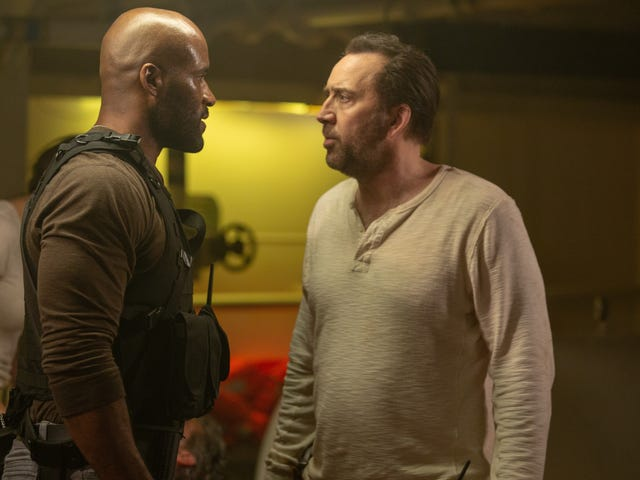 Nic Cage doesn't even try to upstage his animal costars in the lousy zoological action thriller Primal
