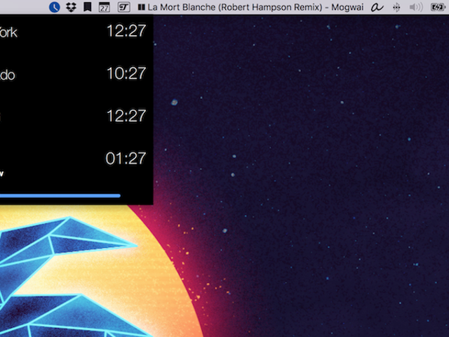 Clocker Crams a World Clock into Your Menu Bar