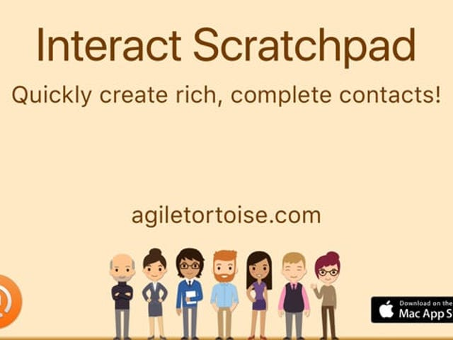 Interact Scratchpad Turns Lazily Formatted Addresses Into Contacts