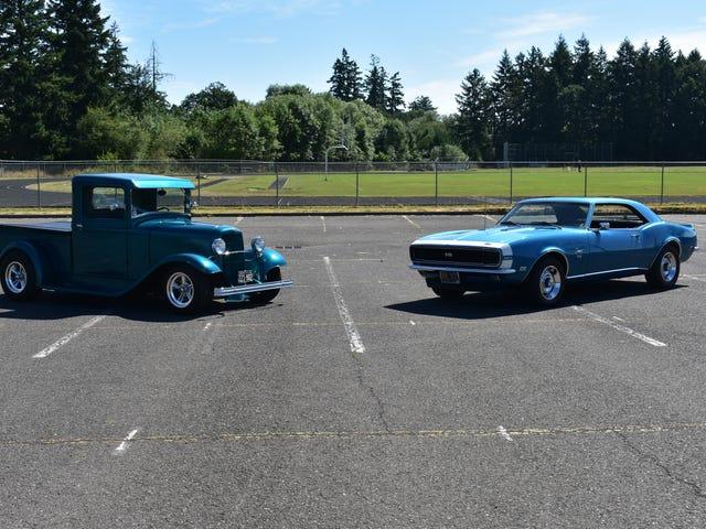 Första gången jag någonsin har haft min 33 Ford och 68 Camaro tillsammans för foton.