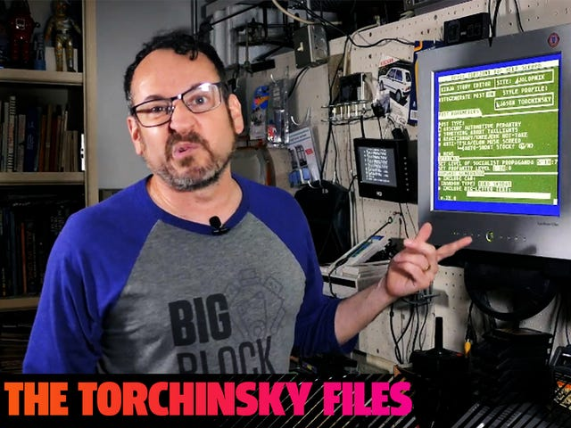 Behold! The First Episode Of The Torchinsky Files, Where I Yammer At You From My Basement!