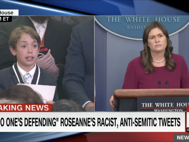 Sarah Sanders Chokes Up While Lying to a Child's Face About Gun Safety Reform