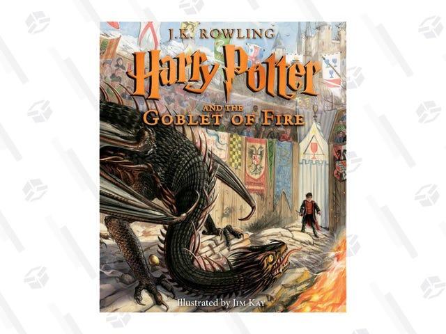 Chwyć swoją różdżkę i zdobądź ilustrowaną kopię Harry'ego Pottera i Czara Ognia za 20 USD