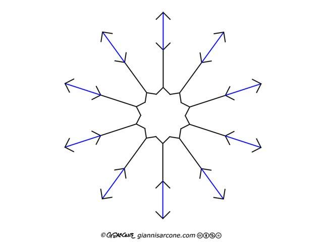 Da igual cuánto fuerces tu cerebro, las líneas azules de esta increíble ilusión óptica no se mueven