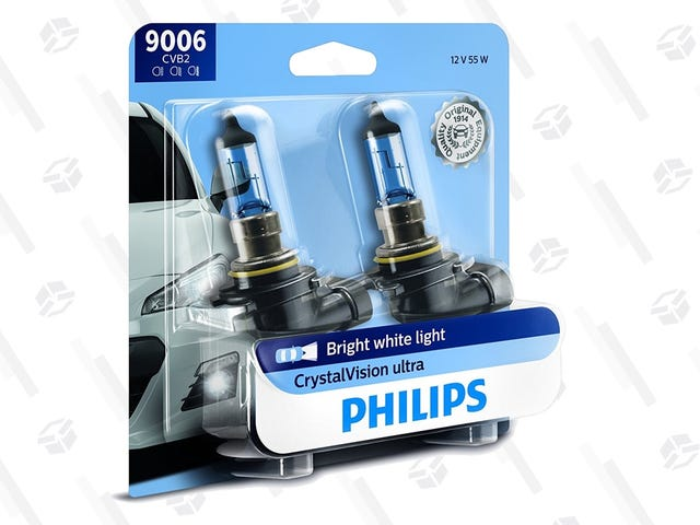 Upgrade Your Car's Headlights with $5 Off Philips CrystalVision Bulbs