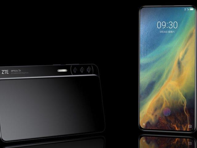 Lo nuevo de ZTE es un smartphone deslizante que esconde cinco cámaras a sus lados
