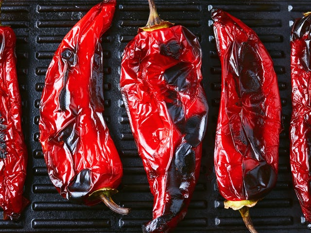 The Easiest Way to Peel Roasted Peppers