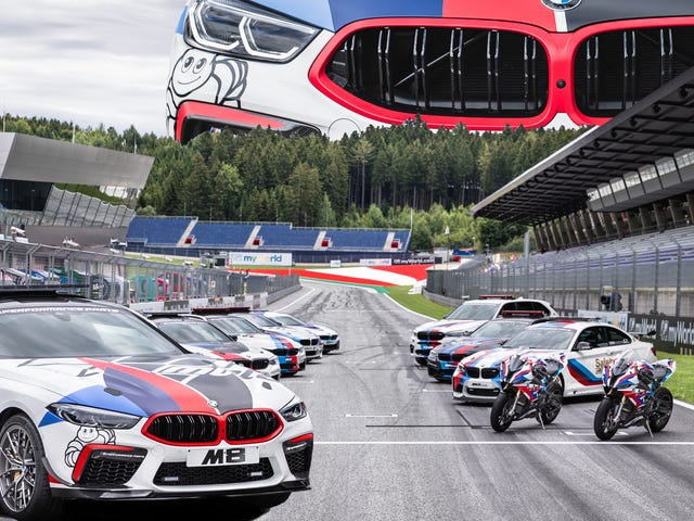 BMW introducerer M8 MotoGP sikkerhedsbil og bringer nyt liv til Big M8 Meme