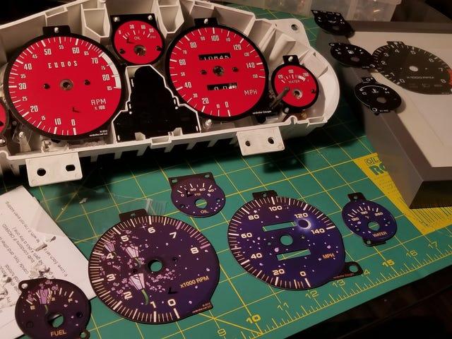 Red gauges, +25hp
