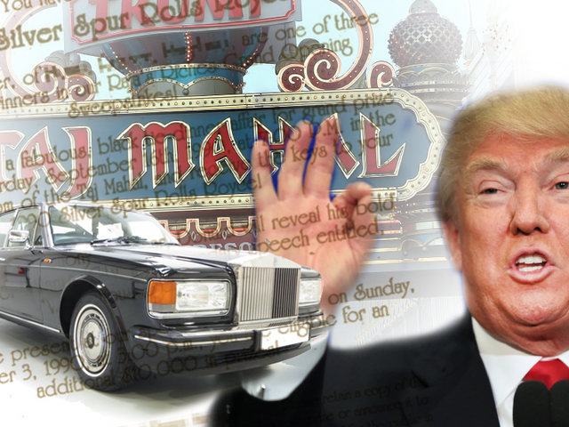 Αυτός ο χρόνος Εκατοντάδες άνθρωποι σκέφτονται το καζίνο του Donald Trump τους έδινε ένα Rolls-Royce
