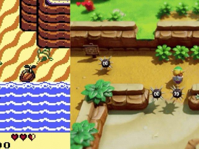 Το εντυπωσιακό remake του Zelda: Το Awakening Link για το Switch σε σχέση με το αρχικό παιχνίδι