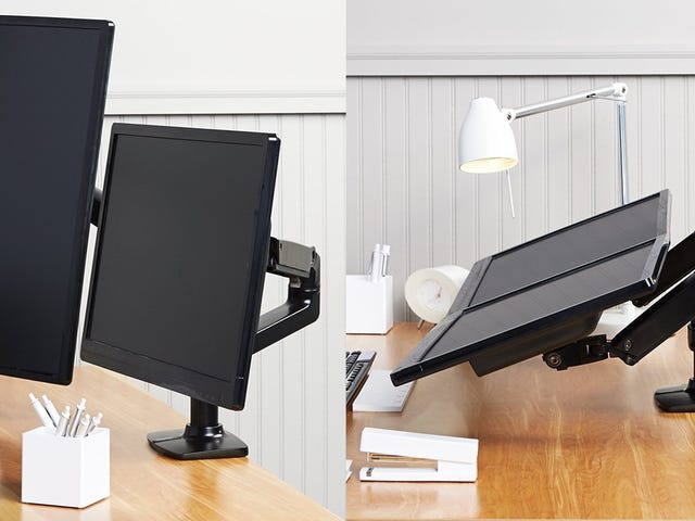 Your Monitors Can Do Gymnastics With This Discounted Dual Arm Mount