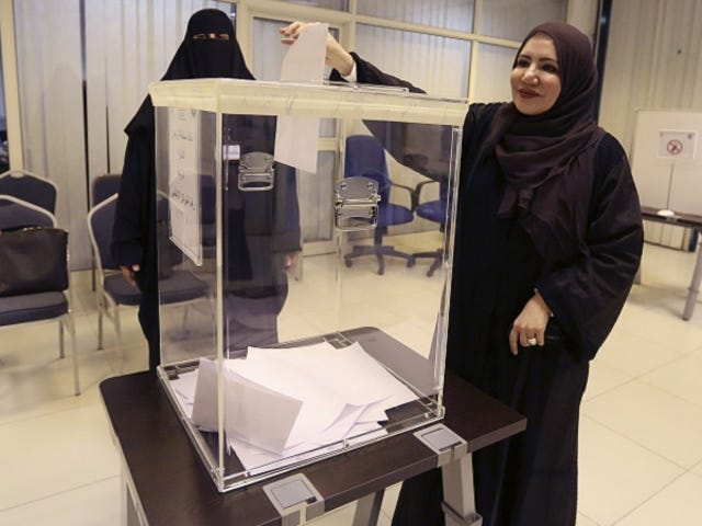Saudi Arabia's Women Vote For the First Time in History