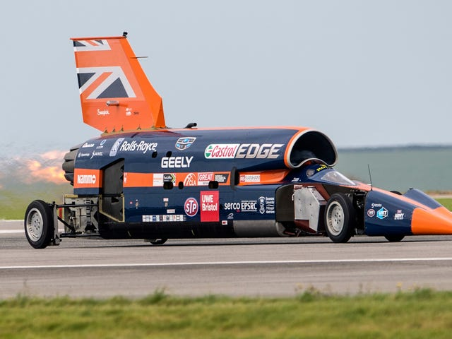 The 1,000-MPH (?) Bloodhound Supersonic Car Can Be Yours for the Price of a New McLaren