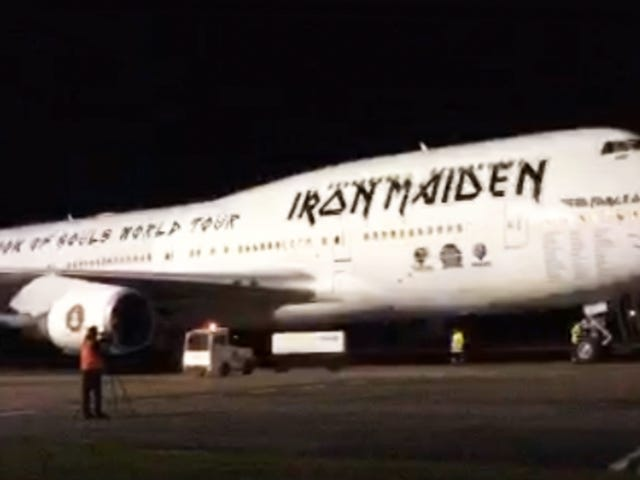 Check Out Iron Maiden's Bitchin' Boeing 747