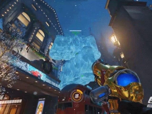 जब आप मेई की बर्फ की दीवारों को ढेर करते हैं तो यह <i>Overwatch</i> इसे पसंद नहीं करता है