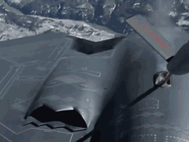 El sistema de repostaje del bombardero B-2 desaparece casi mágamente