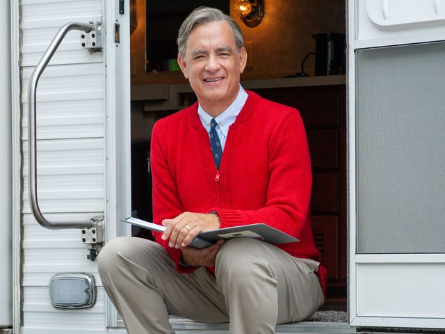 Tom Hanks Recalls Arriving On 'A Beautiful Day In The Neighborhood' Set At Dawn For Grueling 6-Hour Cardigan-Application Process