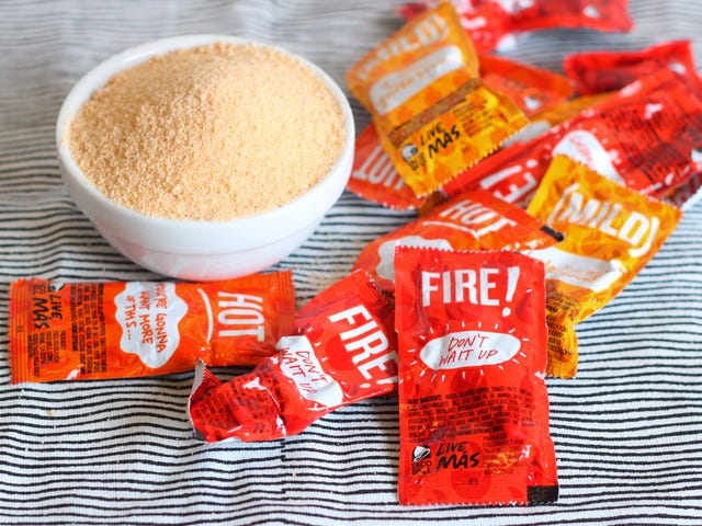 Make Taco Bell Salt With Leftover Sauce Packets