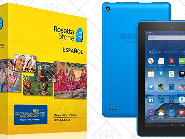 Today Only: Buy Rosetta Stone, Get a Free Fire Tablet